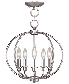 Livex Milania 5- Light Metal Pendant