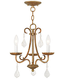 Livex Daphne 3- Light Metal Mini Chandelier