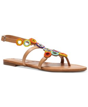 Inc International Concepts Marstie Popsicle Collection Embellished Strappy Flat Sandals, Created for Macy