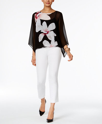 Alfani Blouson Top & Cropped Pants, Created for Macy's