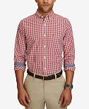 Nautica Men's Classic-Fit Gingham Long-Sleeve Shirt