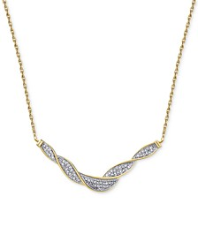 Diamond Swirl Collar Necklace (1/4 ct. t.w.)