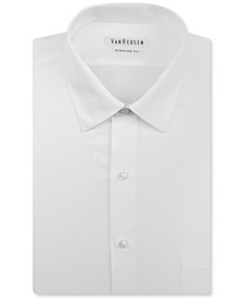 Big and Tall Classic-Fit Solid Herringbone Dress Shirt