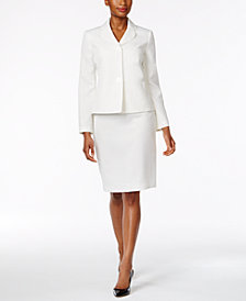 Le Suit Club-Collar Skirt Suit