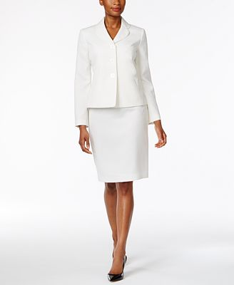 Le Suit Club Collar Skirt Suit Wear To Work Women Macy S