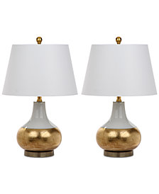 Safavieh Set of 2 Nova Glass Table Lamps