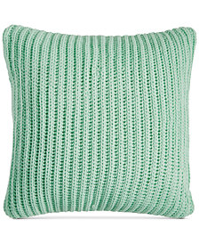 "LAST ACT! Charter Club Damask Designs 20"" Square Sweater-Knit Decorative Pillow, Created for Macy's"