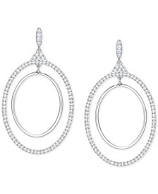 Swarovski Pavé Double Hoop Earrings