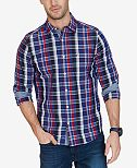 Nautica Men's Classic-Fit Plaid Cotton Shirt
