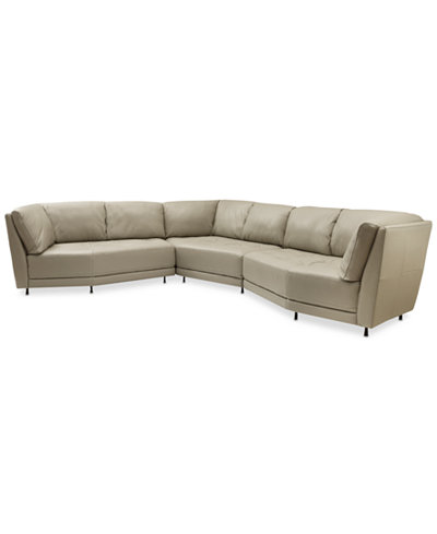 CLOSEOUT! Belice 3-Pc. Leather Modular with 3 Apartment Sofas (2 Right Arm Facing & 1 Left Arm Facing OR 2 Left Arm Facing & 1 Right Arm Facing), Created for Macy's