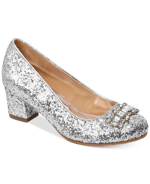 7042fac8b7f Badgley Mischka Starlett Adorb Glitter Shoes, Little Girls & Big ...