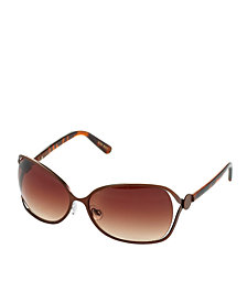 Nine West Sunglasses, Metal Oval with Vented Lenses