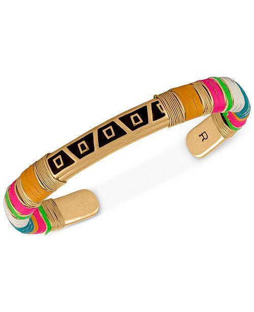 RACHEL Rachel Roy Gold-Tone Mixed-Media Wrapped Bracelet