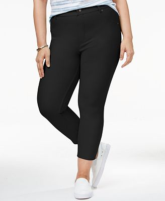 Hue Women's Plus Size Essential Denim Capri Leggings - Handbags ...