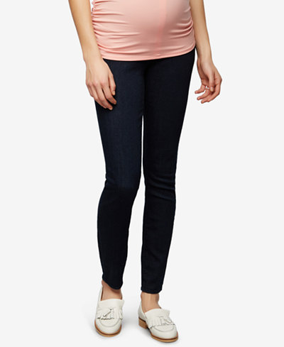 Articles of Society Maternity Dark Wash Ankle Jeans