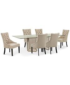 Sophia Dining Room 7-Pc. Set (96'' Table & 6 Marais Chairs)