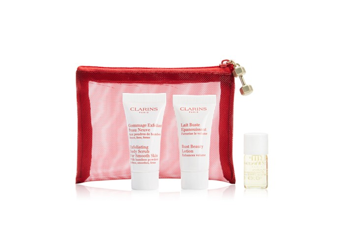 Receive a free 4-piece bonus gift with your Clarins Body Fit purchase