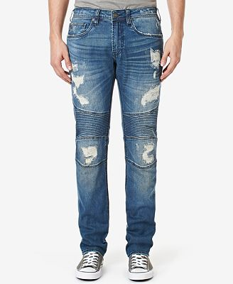 Buffalo David Bitton Men's MAX-X Stretch Ripped Jeans - Jeans ...