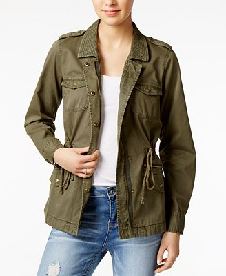 Maison Jules Cotton Utility Jacket, Created for Macy's