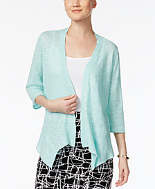 Alfani Petite Open-Front Cardigan, Created for Macy's