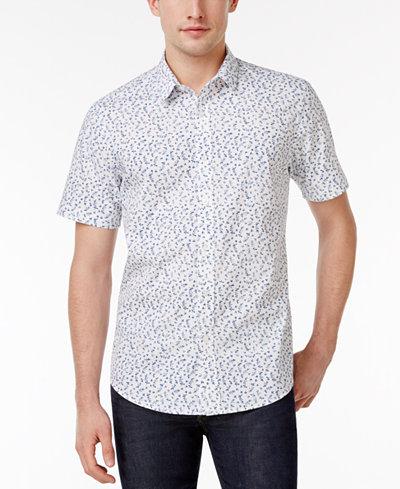 American Rag Men's Ditsy Print Shirt, Created for Macy's