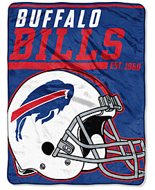 "Northwest Company Buffalo Bills Micro Raschel 46x60 ""40 Yard Dash"" Blanket"