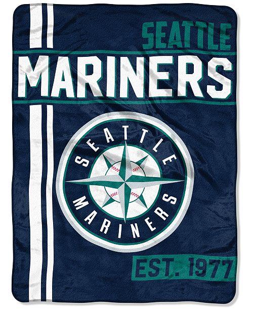 "Northwest Company Seattle Mariners Micro Raschel 46x60 ""Walk Off"" Blanket"