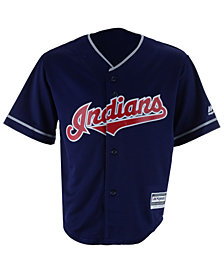 Majestic MLB Cleveland Indians Replica Cool Base Jersey, Little Boys (4-7)