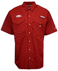 Columbia Men's Arkansas Razorbacks Bonehead Short Sleeve Shirt