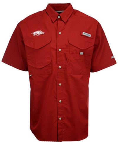 Columbia Men's Arkansas Razorbacks Bonehead Short Sleeve Shirt