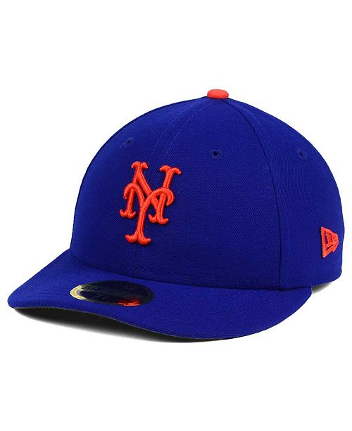 ... New Era New York Mets Low Profile AC Performance 59FIFTY Cap ... ada8ad153b0