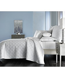 Embroidered Frame Quilted King Coverlet, Created for Macy's