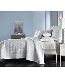 Hotel Collection Embroidered Frame Quilted Twin Coverlet, Created for Macy's