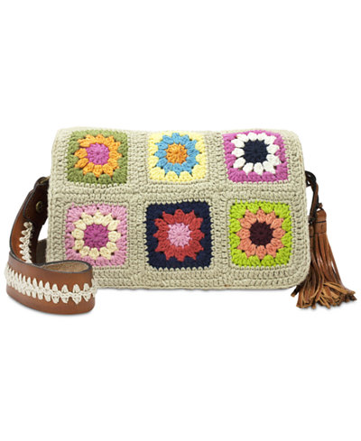 Patricia Nash Knit Squares Bari Flap Medium Crossbody