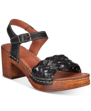White Mountain Pandora Block-Heel Dress Sandals Women