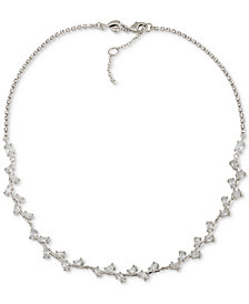 Carolee Silver-Tone Crystal Collar Necklace