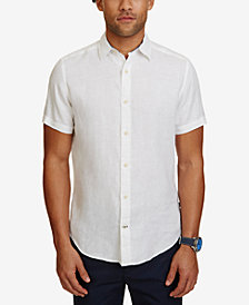 Nautica Men's Classic-Fit Linen Short-Sleeve Shirt