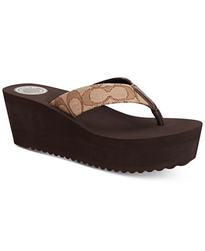 COACH Jen Wedge Thong Sandals