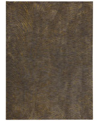 """Enigma Spectral Brushed Gold 9'6"""" x 12'11"""" Area Rug"""