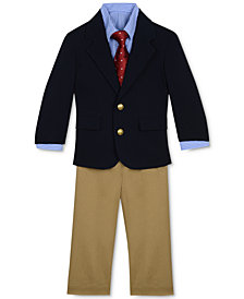 Nautica  Baby Boys 12M 4-Piece Poplin Jacket, Pants, Shirt & Tie Set