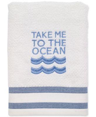 "Beach Words 16"" x 28"" Hand Towel"