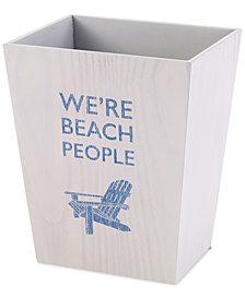 Avanti Beach Words Wastebasket