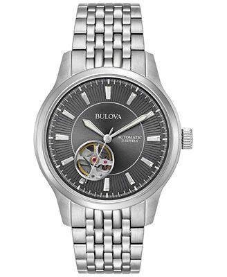 Bulova Men's Automatic Stainless Steel Bracelet Watch 40mm 96A190