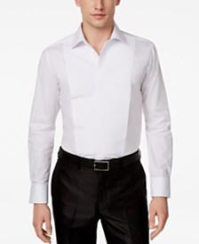 Tallia Men's Slim-Fit Solid White Woven Tuxedo Shirt