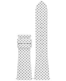 Michael Kors Access Women's Bradshaw White Leather Smart Watch Strap MKT9023