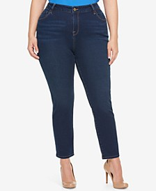 Plus Size Nocturna Blue Wash Skinny Jeans, Created for Macy's