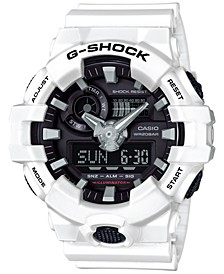 Men's Analog-Digital White Resin Strap Watch 54mm GA700-7A