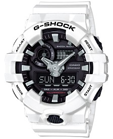 G-Shock Men's Analog-Digital White Resin Strap Watch 54mm GA700-7A
