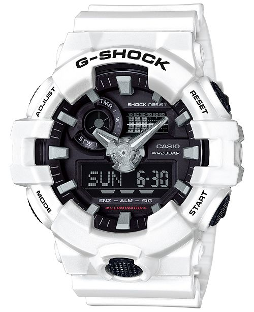 12e668bf3c83 G-Shock Men s Analog-Digital White Resin Strap Watch 54mm GA700-7A ...