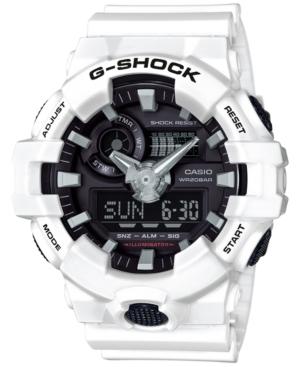 Men's Analog-Digital White Resin Strap Watch 54mm GA700-7A